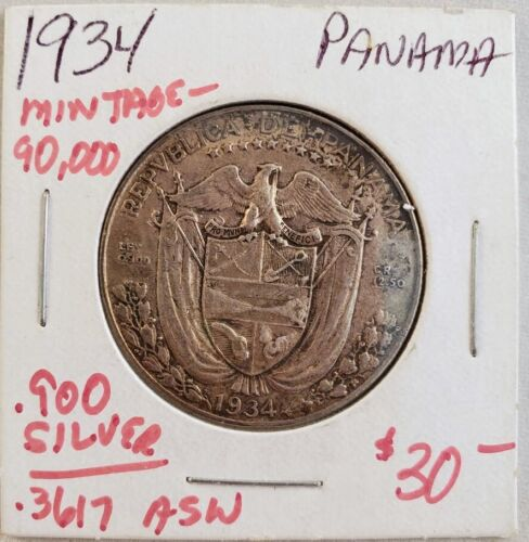 1934 Panama 1/2 Balboa