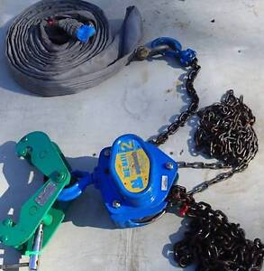 Block and tackle (rig mate) Girder Clamp 2T (Beaver) & 4T Sling. Gatton Lockyer Valley Preview