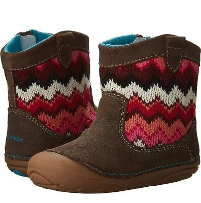 NEW Stride Rite Quinn Baby Girl Boots Shoes Toddler Brown 5 W MSRP $45 Last One