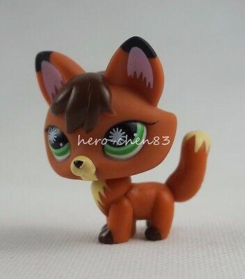 Littlest Pet Shop LPS #807 Fox Orange Brown Black Green Eyes Girl Toys Gift
