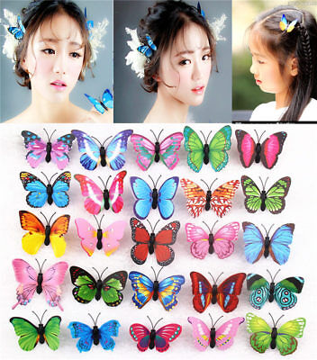 Lot Butterfly Hair Clips Bridal Hair Accessories Wedding Photography Costume 2