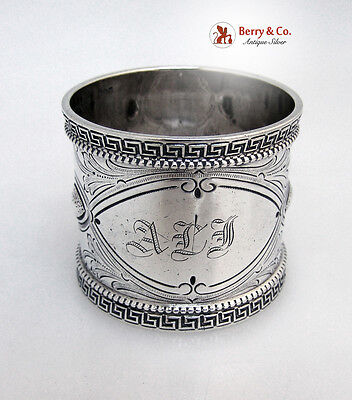 Greek Key Sterling Silver Napkin Ring Wood And Hughes 1880
