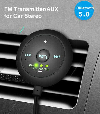 AUX-in Bluetooth Wireless Receiver Adapter FM Transmitter for Car Stereo Audio Stereo Fm Wireless Transmitter