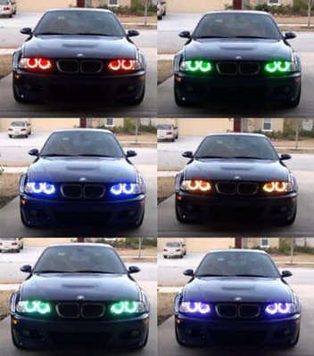 Xenon RGB Multi-Color LED Angel Eyes Headlight For BMW E38 E39 E46 3 5 7 Series - Multi M5 Led