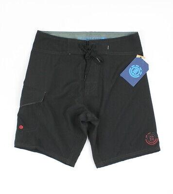 Element Mens Solid Boardshorts Black 28 New ()