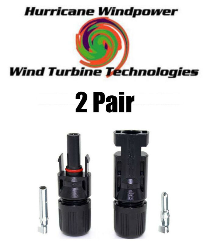 2 Sets 6MM Economical PV Solar Cable Connectors Compatible with MC4 10-14 AWG