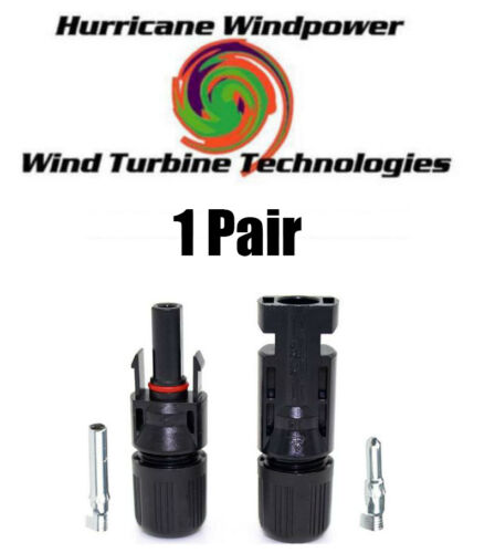 1 Set 6MM Economical PV Solar Cable Connectors Compatible with MC4 10-14 AWG