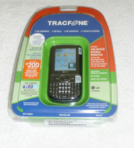 Sealed LG 500G Prepaid Camera Phone Black W Activation Card Tracfone