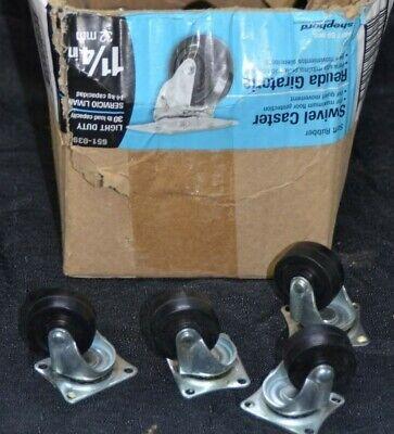 Shepherd Rubber Swivel Plate Caster Wheel 9487 1-14 30lb Load Hardware Lot 31