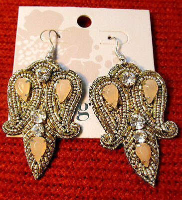 TS Earrings TAKING SHAPE 'Dallas' glam jewelry faux gems diamante jewellery NWT!