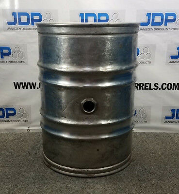 55 Gallon Stainless Steel Wine Drum Used Closed Head With Side Bung Opening