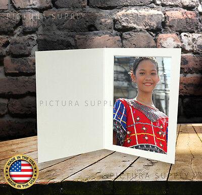 4x6 Basic White Cardboard Photo Folders - Pack of 50 - Made in -