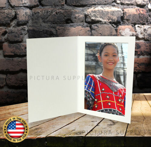 5x7 Basic White Cardboard Event Photo Folders - Pack of 50
