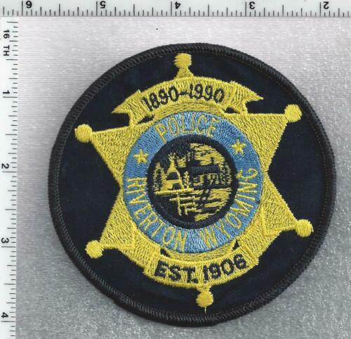 Riverton Police (Wyoming) Centennial Shoulder Patch 1890-1990