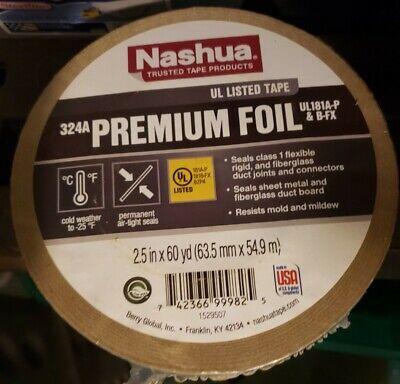 Nashua Duct Tape Foil Air Professional 4.8 Mil 60 Yd. Aluminum Meets Ul 181 S...