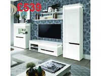 BRAND NEW Wall Units Living Room ( TV Unit Stand, Shelves, Display Unit, Wardrobe) FREE DELIVERY