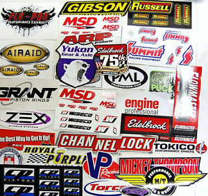 Grab Bag Large Lot of 25 Racing Decals Stickers Drag Race NHRA Nascar