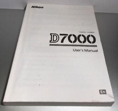 NIKON D7000 DIGITAL CAMERA OWNERS INSTRUCTION MANUAL -NIKON