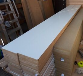 10 Pieces of New 25mm White Melamine MDF 120in x 8½in (3050mm x 210mm)