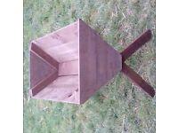 Wooden trough planters
