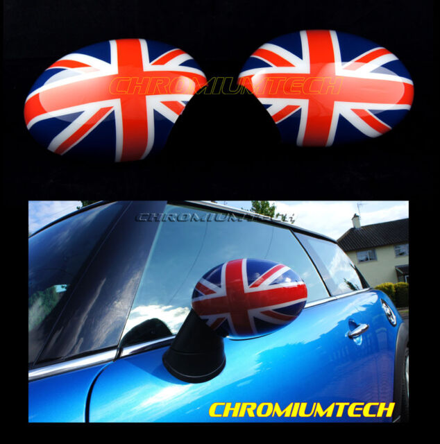 BMW MINI R55 R56 R57 R58 WING MIRROR Cap Cover UNION JACK for Manual Fold Mirror