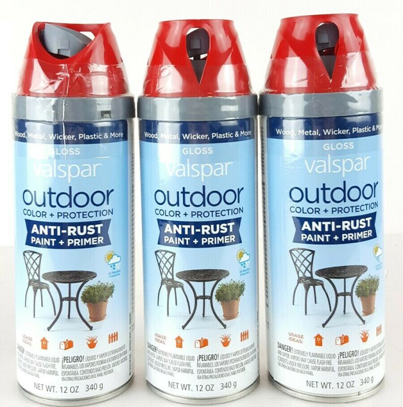 Valspar Outdoor Color + Protection Anti-Rust Paint + Primer Gloss Red Queen