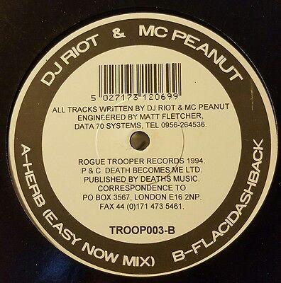 DJ RIOT & MC PEANUT - HERB / FLACIDASHBACK  - RARE 1994 JUNGLE