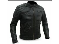 Genuine Cowhide Leather Motorbike Jacket Brand New With CE Armour