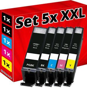 5 tinte patronen f r canon pixma ip8750 mg6350 mg7150 ix6850 mg5650 mg5655 mx725 ebay. Black Bedroom Furniture Sets. Home Design Ideas