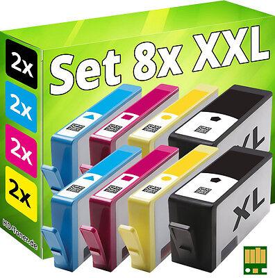 8x imprimante cartouche pour hp 934xl+935xl officejet pro 6230 6820 6830c en-un
