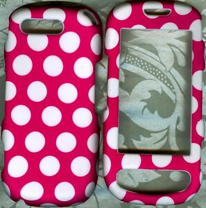 Cute Polka Dot Pink Samsung Highlight SGH T749 phone case hard cover