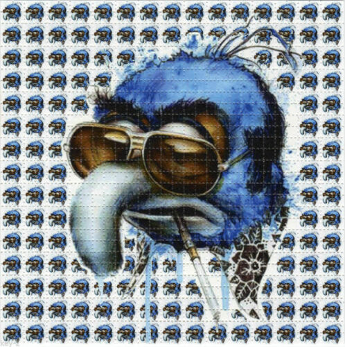 MUPPET GONZO Hunter Thompson BLOTTER ART perforated sheet paper psychedelic art