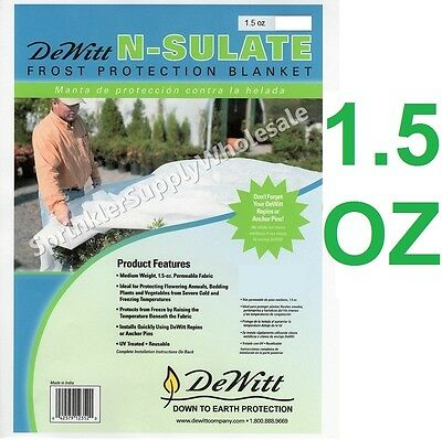 (DeWitt N-Sulate 12' x10' 1.5oz Frost Protection Fabric Freeze Cloth NS12 Blanket)
