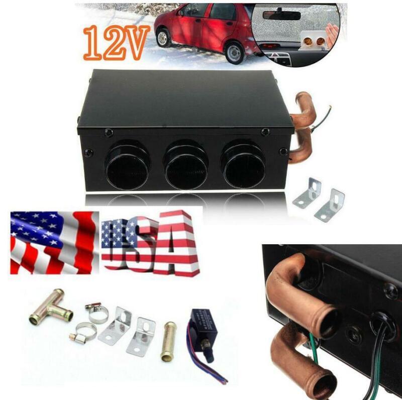 80W Car Heater 3Hole Heating Winter Warmer Portable Defroster Demister Truck Fan