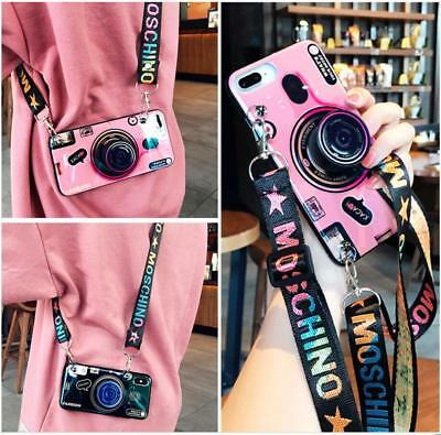 Fashion Note (3D Retro Camera Crossbody Case For Samsung Galaxy S9 Plus Note 9 Fashion Grip)