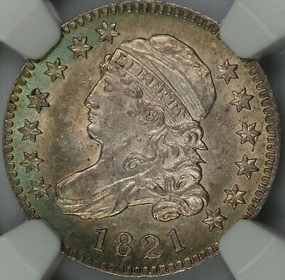 Click now to see the BUY IT NOW Price! 1821 CAPPED BUST SILVER DIME NGC MS 64 TONED LARGE DATE 10C