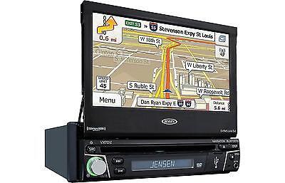 Jensen VX7012 In Dash Single Din Navigation Receiver w/ Bluetooth and HDMI