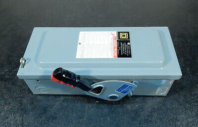 Square D H361 Heavy Duty Safety Switch 30a 600v 3d08