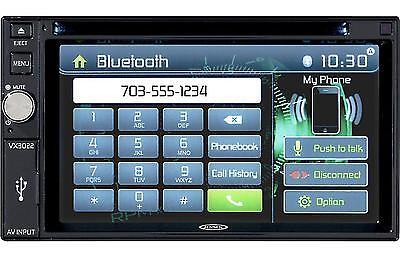 """Jensen VX3022 In Dash Double Din 6.2"""" Touchscreen DVD Receiver w/ Bluetooth"""