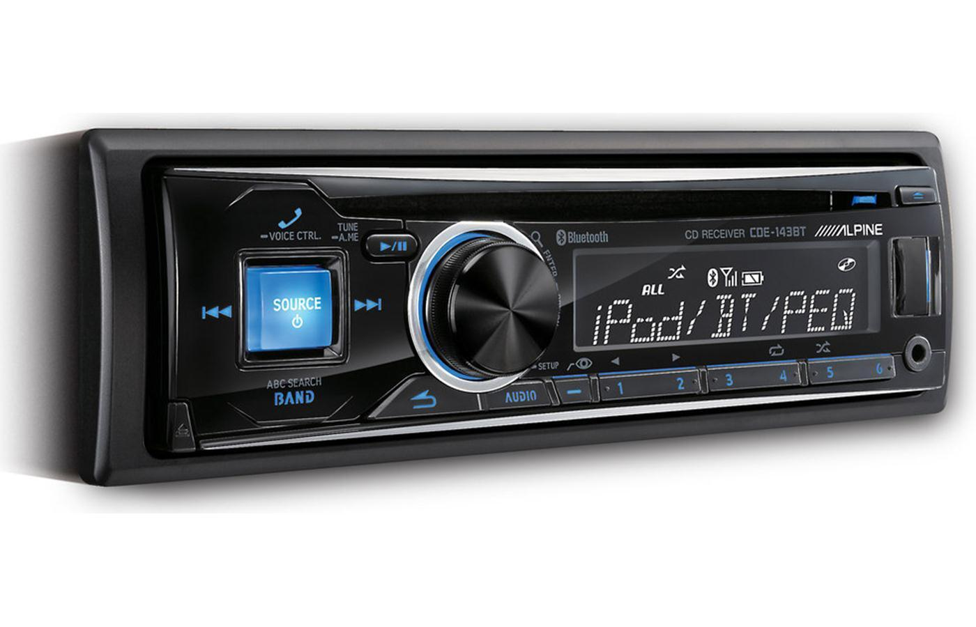 ALPINE CDE-143BT Car Stereo CD/USB Receiver w/ Advanced Bluetooth