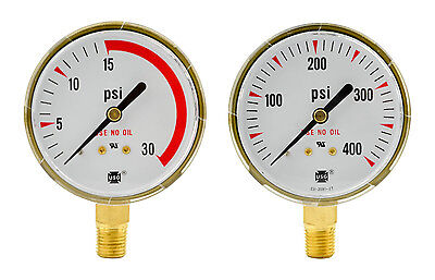 2-12 X 30 Psi 400 Psi Welding Regulator Repair Replacement Gauge Acetylene