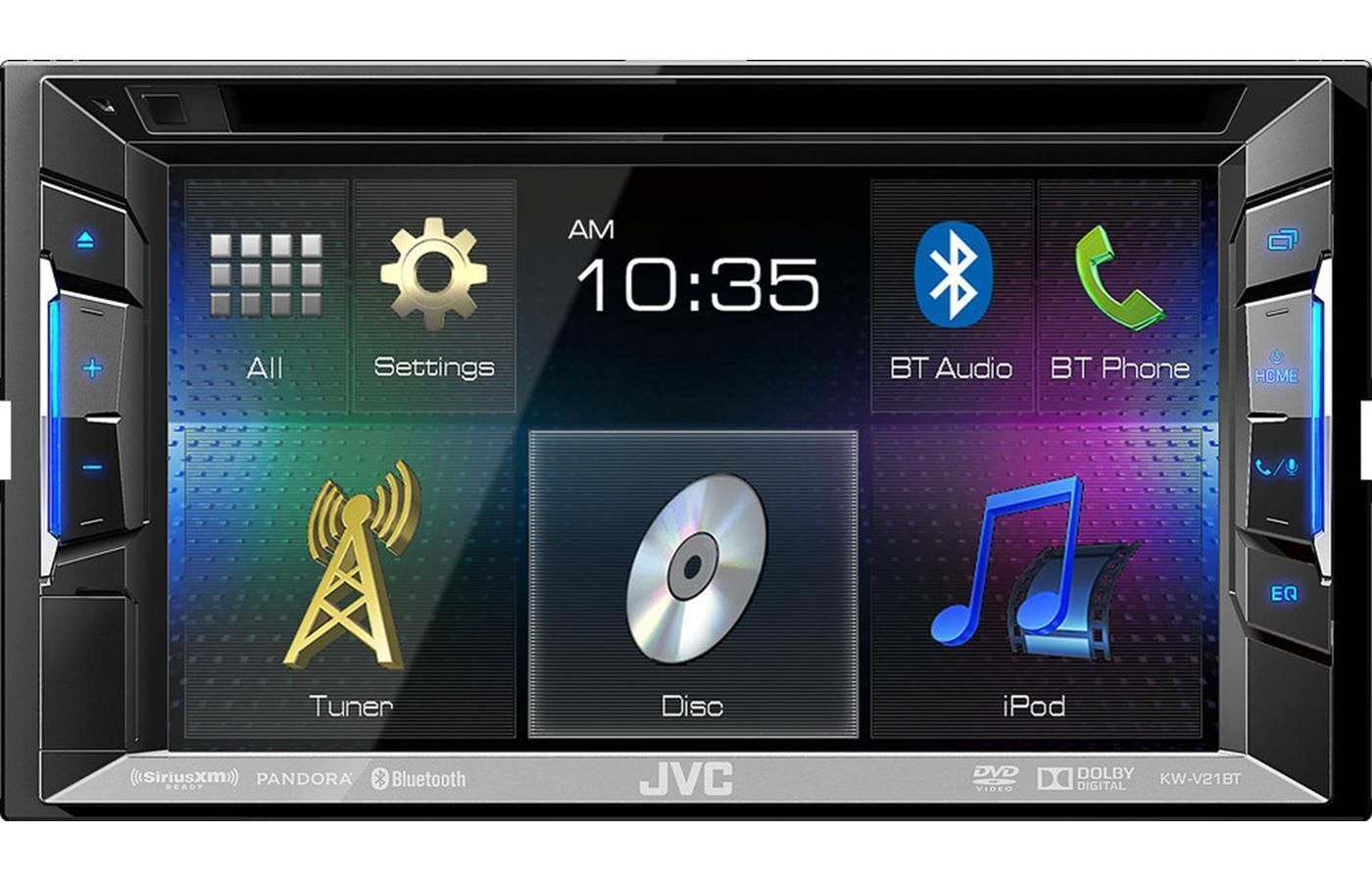Of the line double din touch screen car stereos from pioneer and sony - Jvc Kw V21bt