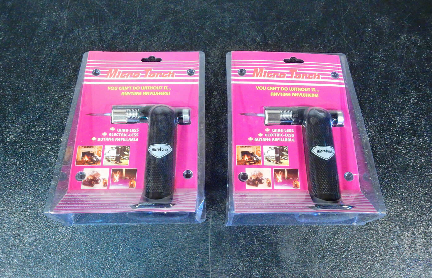 Lot of 2 Microtorch MT-3 Butane Refillable Micro Torches     (3a01)