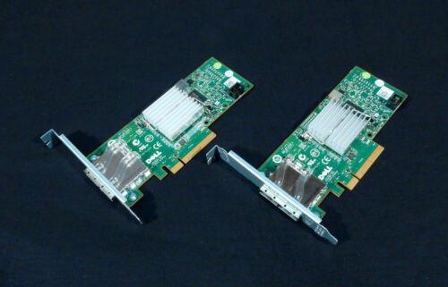 Lot of 2 Dell 12DNW PCI-e Dual Port 6Gbs SAS HBA Controller     (3a07)