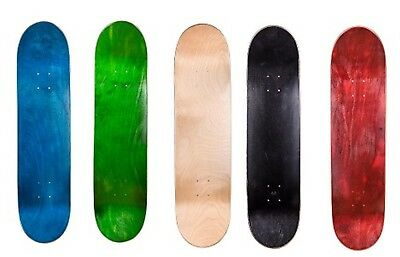 "Cal 7 8.25"" Skateboard Deck Blank Maple , Black, Red, Green , Nature, Red Colors"