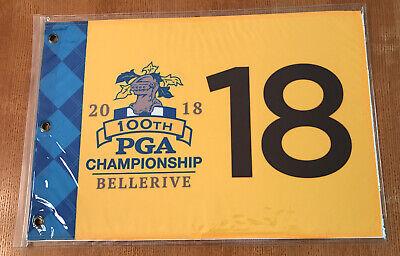 2018 PGA GOLF CHAMPIONSHIP MAJOR LOGO PIN FLAG WITH GROMMETS Screen Printed