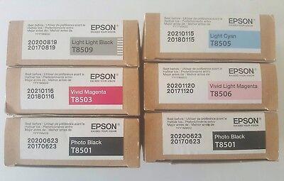 - 6x Genuine Epson Stylus Pro Ink Cart-Brand New boxes SC-P800. Expiry 2020