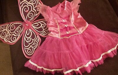 Little Girl's Butterfly Costume and Wings Size 3-4