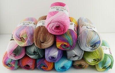 100% Wolle (Papatya Batik Türkische Wolle 100g fantastischer Farbverlauf Strickwolle )