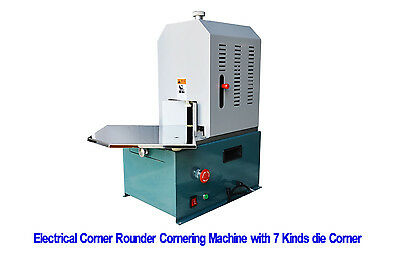Electrical Round Cornering Corner Rounder Cutter With 7 Built Dies Free Shipping